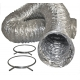 ALUMINUM DRYER FLEX HOSE & CLAMPS (Free Shipping)
